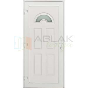 Temze 1 üveges műanyag bejárati ajtó - Egyszárnyú műanyag bejárati ajtó