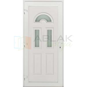 Temze 3 üveges műanyag bejárati ajtó - Egyszárnyú műanyag bejárati ajtó