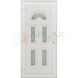 Temze 5 üveges műanyag bejárati ajtó - Egyszárnyú műanyag bejárati ajtó