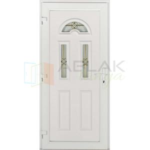 Temze 3 üveges aranyosztós műanyag bejárati ajtó - Egyszárnyú műanyag bejárati ajtó