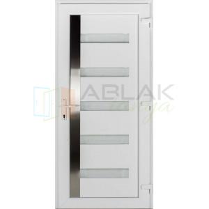 Texas műanyag bejárati ajtó fehér/fehér - Egyszárnyú műanyag bejárati ajtó
