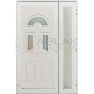 Viola kétszárnyas műanyag bejárati ajtó - Kétszárnyú műanyag bejárati ajtó